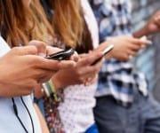Depressief van smartphone gebruik