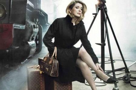 Catherine Deneuve voor Louis Vuittone