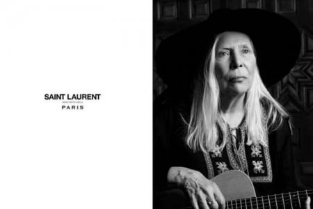 Joni Mitchell voor Yves Saint Laurent