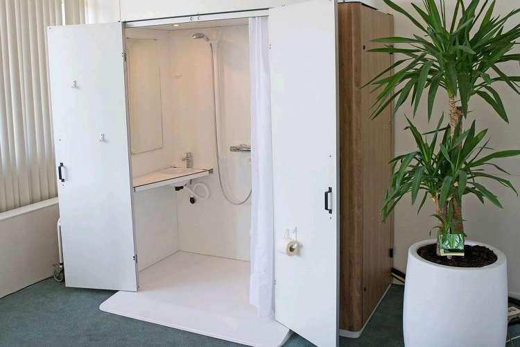 Mobiele badkamer van Kip