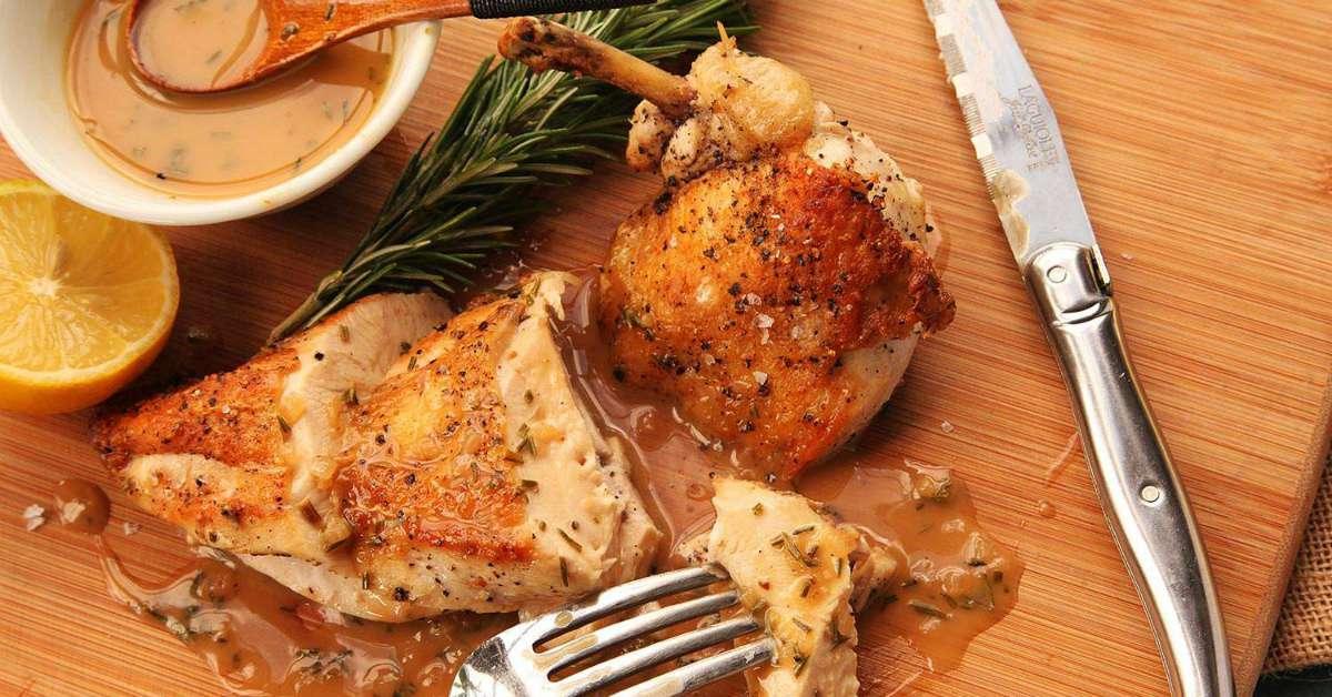 Franse kip uit de oven met knoflook facebook