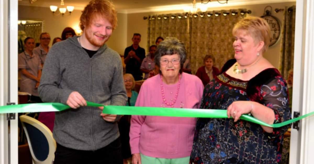 Ed Sheeran op bezoek facebook