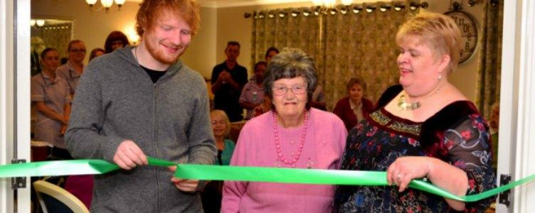 Ed Sheeran op bezoek