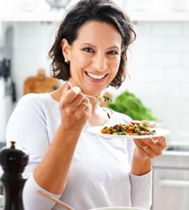 Wendy Walrabenstein met eten
