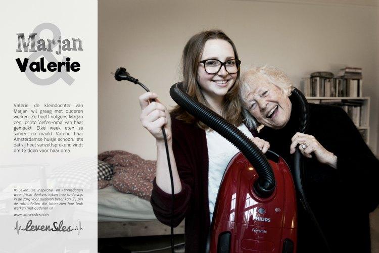 Marjan Berk en haar kleindochter Valerie voor Levensles