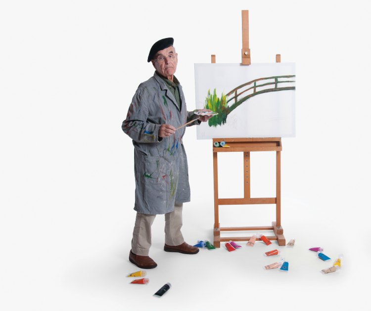Walter als kunstschilder