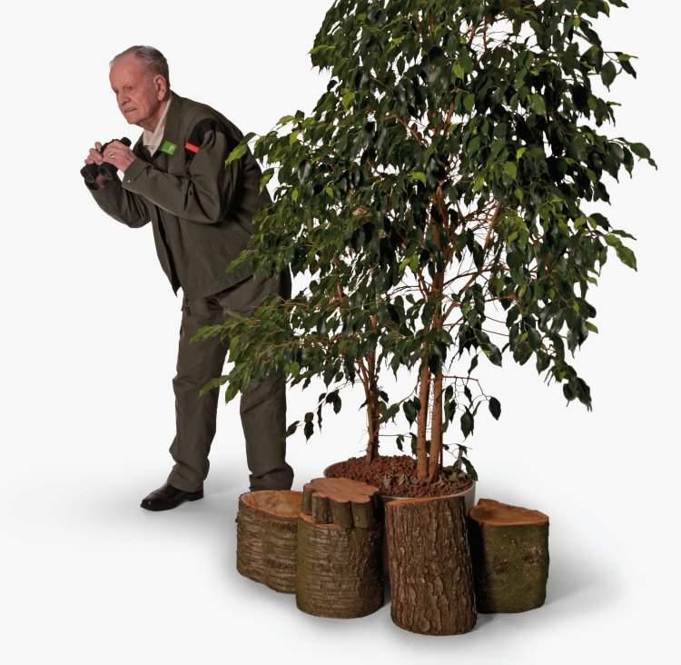 Hendrik Bijlma als boswachter