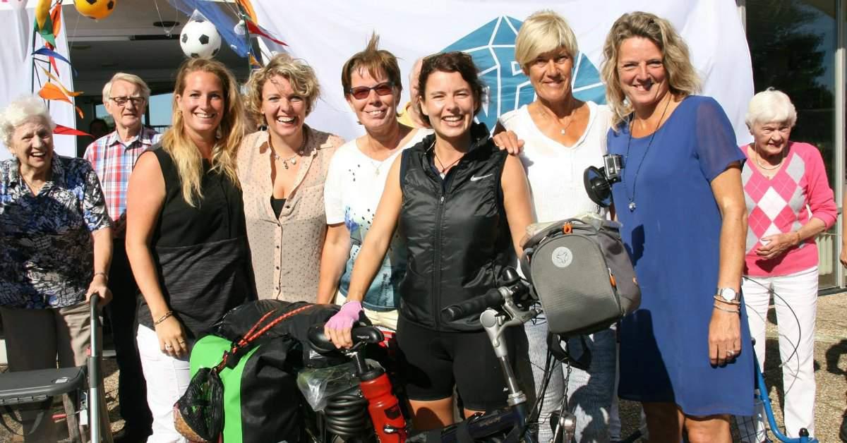 Lisette van Marwijk maakt een fietstocht facebook