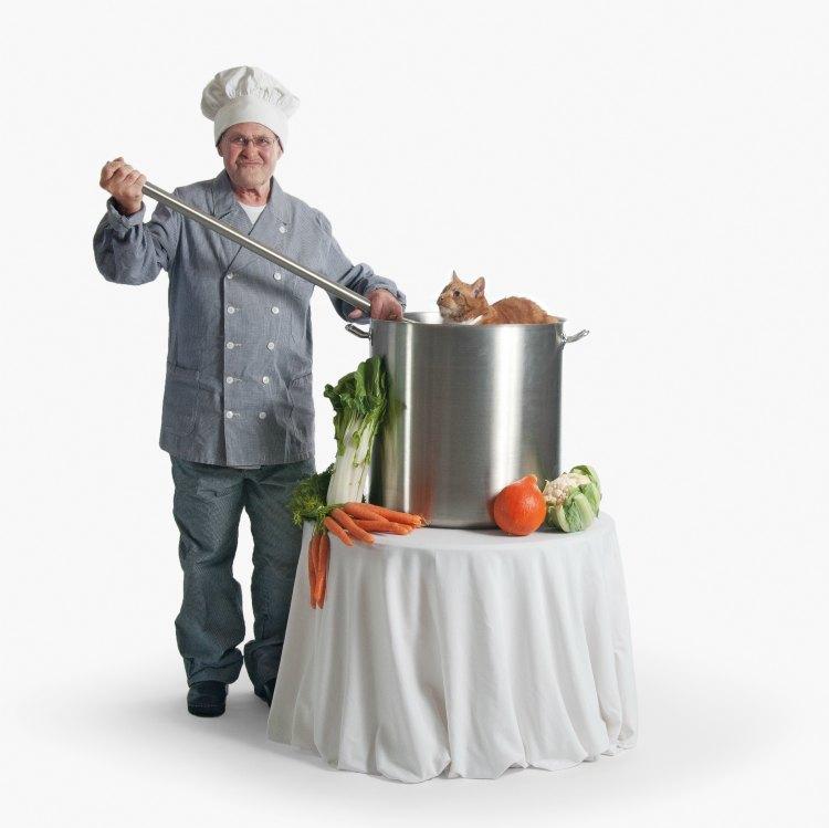 Theo van Kuijen als kok
