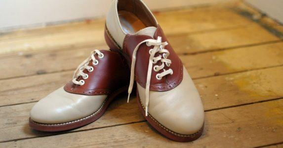 Ouderwetse schoenen saddle shoes