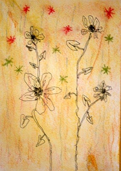 Tekening bloemen