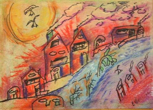 Tekening huizen