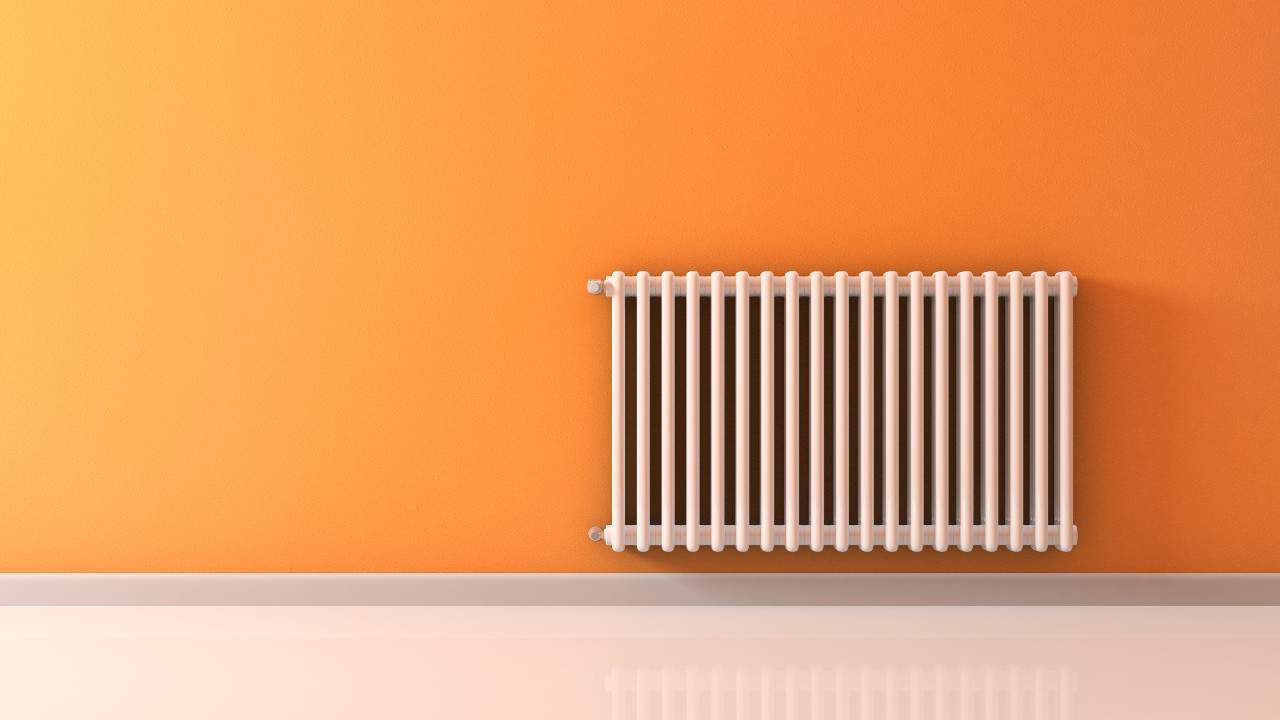 Design radiator in huis